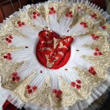 Красное балетное платье с блестками для взрослых девочек; балетное платье; блинная пачка; Костюм Балерины; Лирический танцевальный костюм; балетное платье с лебедем; Одежда для танцев