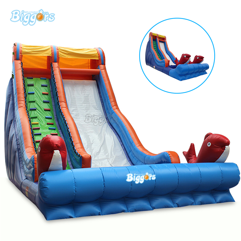 Inflatable giant slide inflatable fish slide inflatable outdoor bouncing slide dry slide with blowers 2016new inflatable slide inflatable bouncers slide hx 167