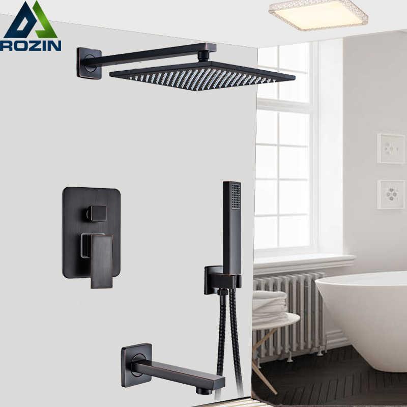 robinet mitigeur 3 voies dissimule robinet de douche de 16 de pluie noir robinet de baignoire douche avec douchette a main bras de douche mural
