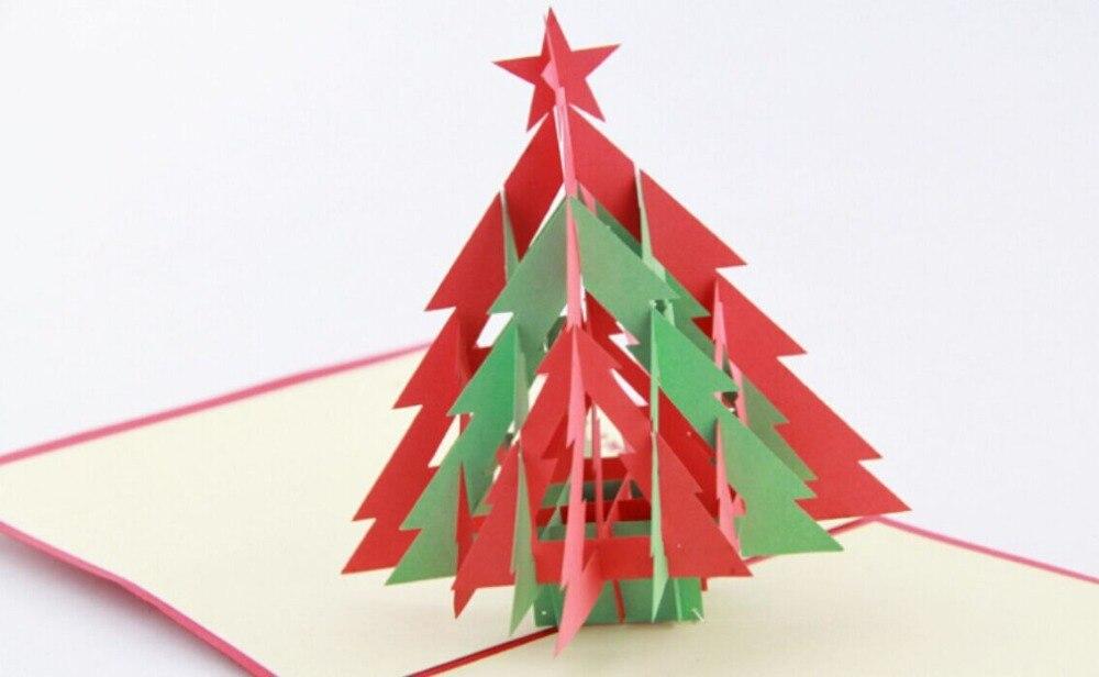 3d Kerstboom 3d Pop Up Kaart Kerst Cardfree Verzendkosten In 3d