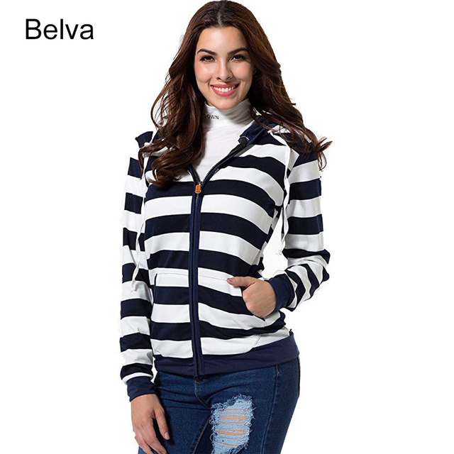 belva new maternity hoodie women cotton long striped cardigan hoodies pregnancy pocket winter coat christmas clothing - Maternity Christmas Sweater