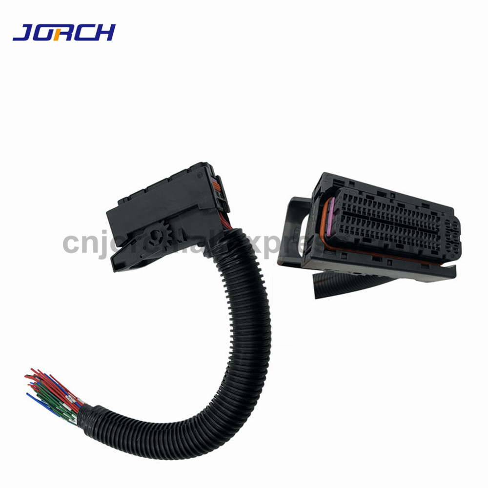 1 Set EDC17 Automotive 94Pin wire harness ECU Plug PC Board Socket With Wiring Harness Common Rail Connector For Bosch1 Set EDC17 Automotive 94Pin wire harness ECU Plug PC Board Socket With Wiring Harness Common Rail Connector For Bosch