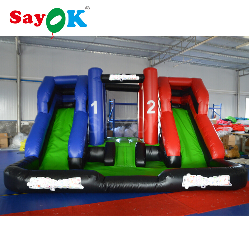 Free Shipping Inflatable Bouncer with Double Slide Bouncer 4.57x4.57m Inflatable Trampoline with Blower for Sale china factory price new style inflatable air bouncer inflatable water trampoline for sale