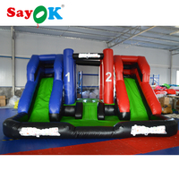 Free Shipping Inflatable Bouncer with Double Slide Bouncer 4.57x4.57m Inflatable Trampoline with Blower for Sale