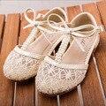 Hot meninas Novas sandálias retro Rendas crianças botas com Pérola pricess crianças botas crianças sapatos de malha sandálias casuais para 2-8 anos