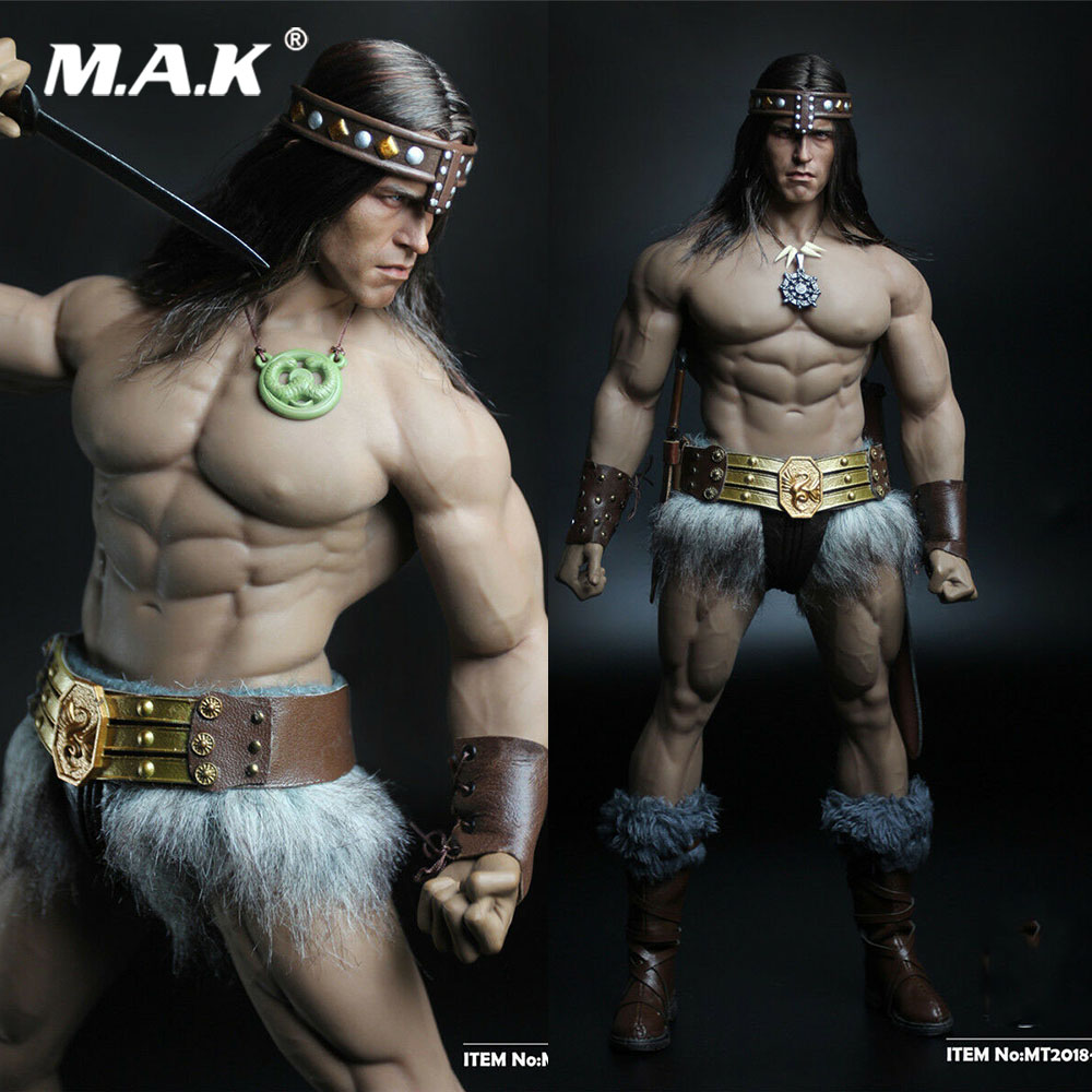 In Stock MT2018-02 1/6 Scale Soldier Conan Head Carving Costume Group Ano Edition Model For 12'' M35 Action Figure Body Gifts