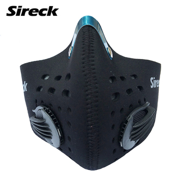 Sireck Cycling Face Mask Black Masks Training Mask Activated Carbon Filter Smog PM 2.5 Dustproof Face Shield Masque Pollution face mask