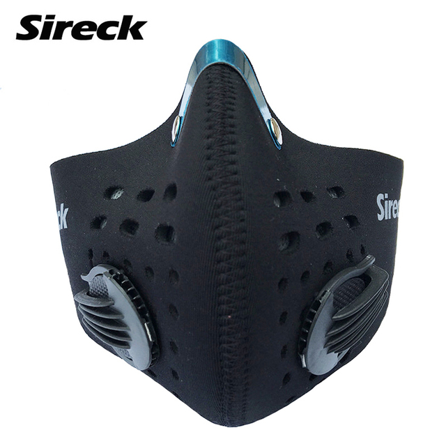 Sireck Cycling Face Mask Road Mountain Bicycle Bike Mask Activated Carbon Filter PM 2.5 Dustproof Running Sport Mask Face Shield