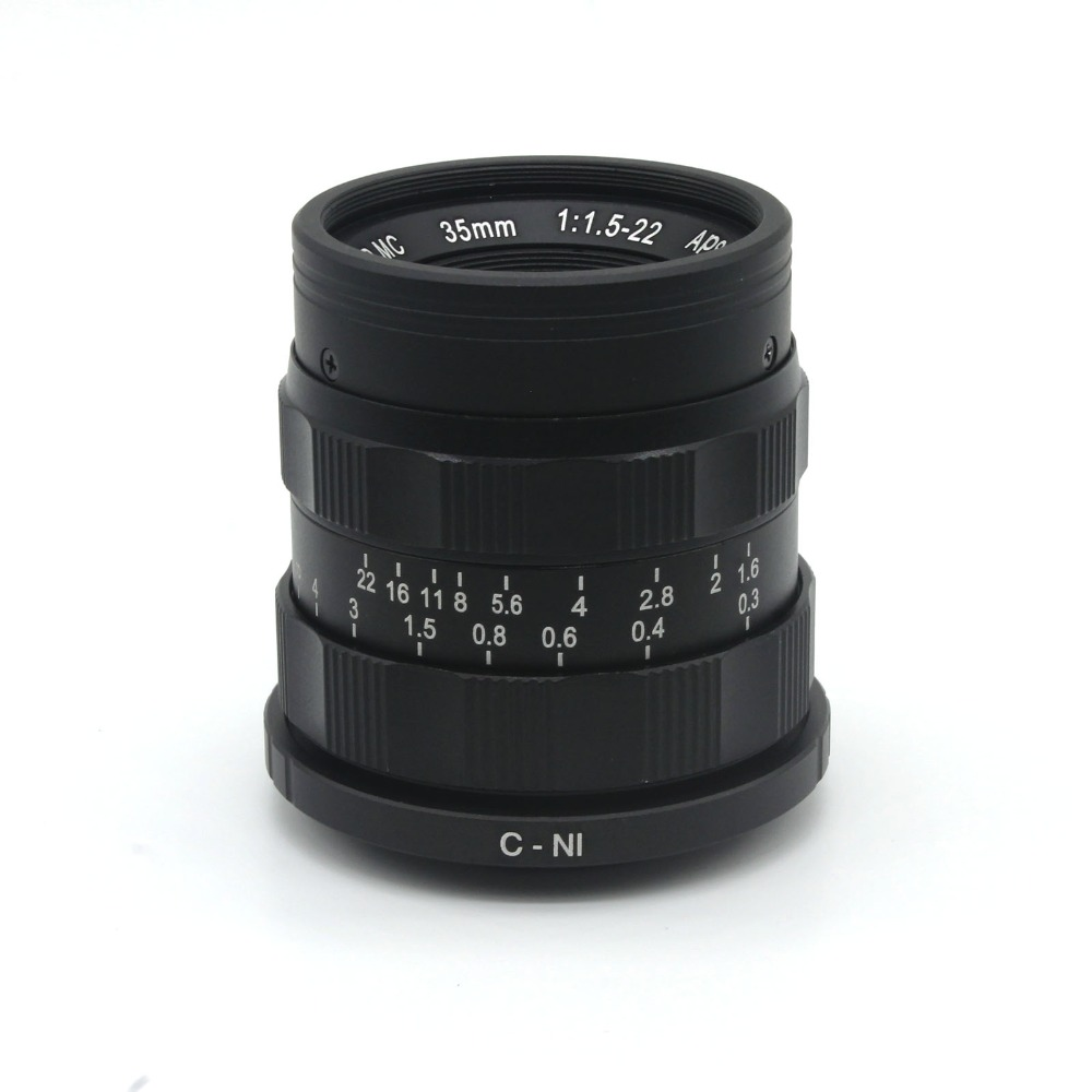 ФОТО Film33mm 35mm F1.6 MOVIE HD Manual LENS with C-N1adapter ring for Nikon 1 N1 J2 V1 V2 Mirrorless camer