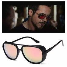 3519adc635 RBUDDY Iron Man 3 Matsuda TONY Stark Steampunk espejo gafas de sol Vintage  marca diseñador gótico hombres gafas