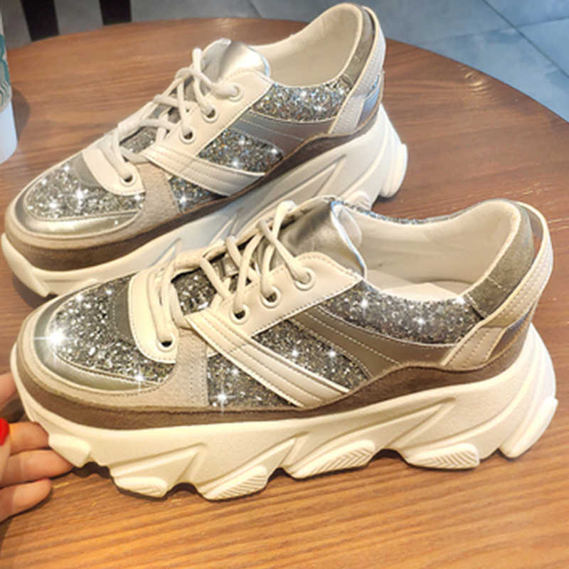 Fashion Chunky Sneakers Women Trainers Dad Platform Shoes Woman Sneakers 2019 New Casual Shoes Wedges basket Zapatillas Mujer