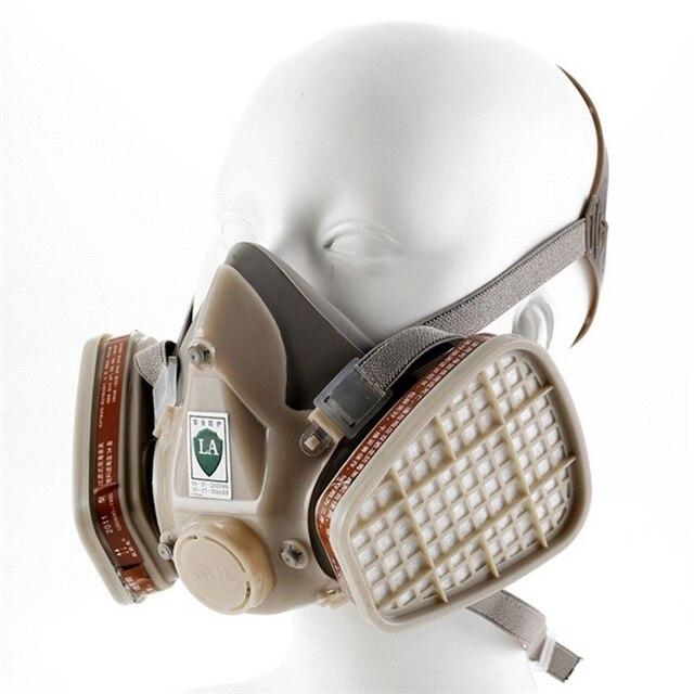 Respirador Máscara De Gás Químico Filtro Tinta Spray Meia face Máscara de  proteção de segurança do 4fbc7ce962