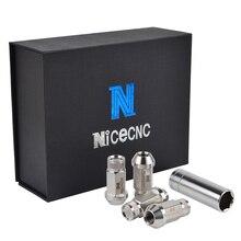 NICECNC 20PCS M12x1.5 Trial Wheel Rim Lugs Nuts Chrome T304 Stainless Steel Lug JDM Dub For GMC Jimmy Sonoma Anti-Rust Bolt