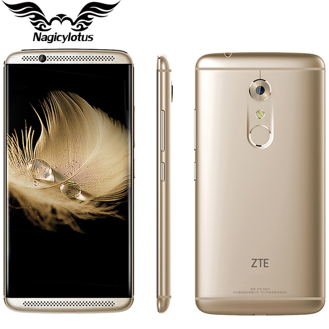 Original ZTE Axon 7 A2017 4G LTE 4GB RAM 128GB ROM Mobile Phone Snapdragon 820 Quad Core 2.15GHz 5.5 inch 20.0MP Fingerprint NFC