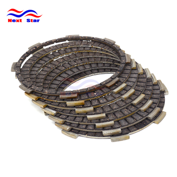 7Pc Motorcycle Engine Parts Clutch Friction Plates Fit For HONDA CB250F 96-07 CBF250 04-06 VT250C 94-07 VTR250 88-89 Street Bike image