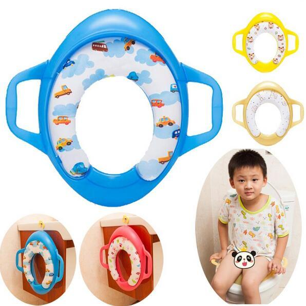 Four kinds of styles baby soft toilet training seat cushion child seat with handles baby toilet seats Pedestal Pan #99