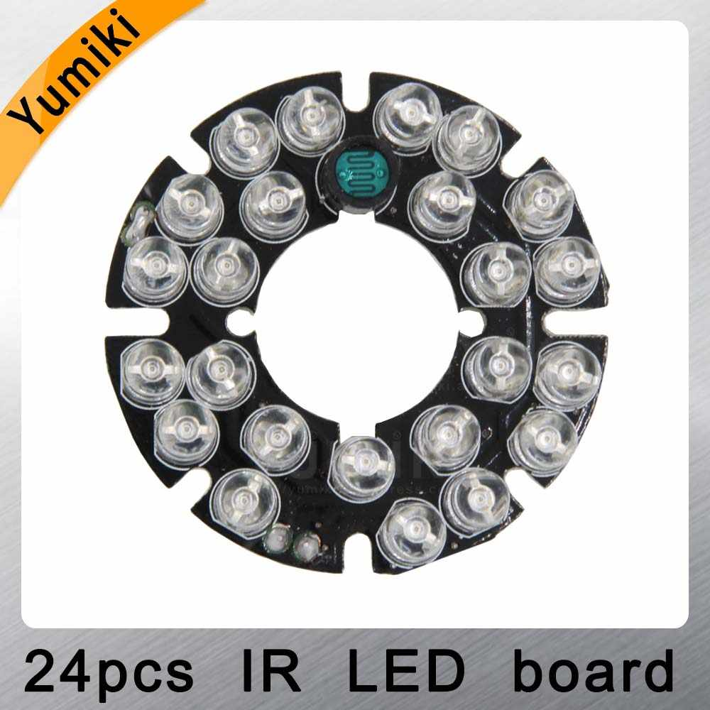 Yumiki Infrared 24 x 5 IR LED board for CCTV cameras night vision (diameter 44mm)