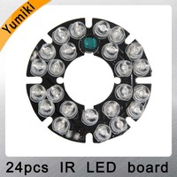 Yumiki 24x5 Infrarossi scheda LED IR per telecamere A CIRCUITO CHIUSO di visione notturna (diametro 44mm)