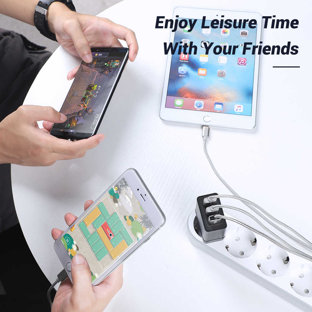 Topk B354Q 3 Port 30W Quick Charge 3.0 USB Charger untuk I Phone Xiaomi Samsung Huawei QC3.0 Pengisian Cepat Dinding charger Telepon