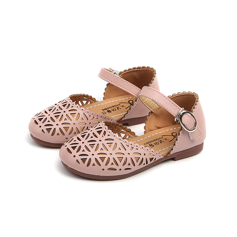 Children Shoes Girls Sandals 2018 Summer Fashion Cut Out Pu Leather Closed  Toe Kids Sandals Hollow Out Princess Flat Girls Shoes-in Sandals from  Mother ... 0bf1c42bff7d