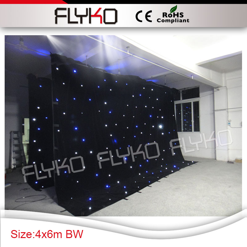Black Friday promotion SD controller 4m by 6m wedding party stage decor led star curtain twinkling leds