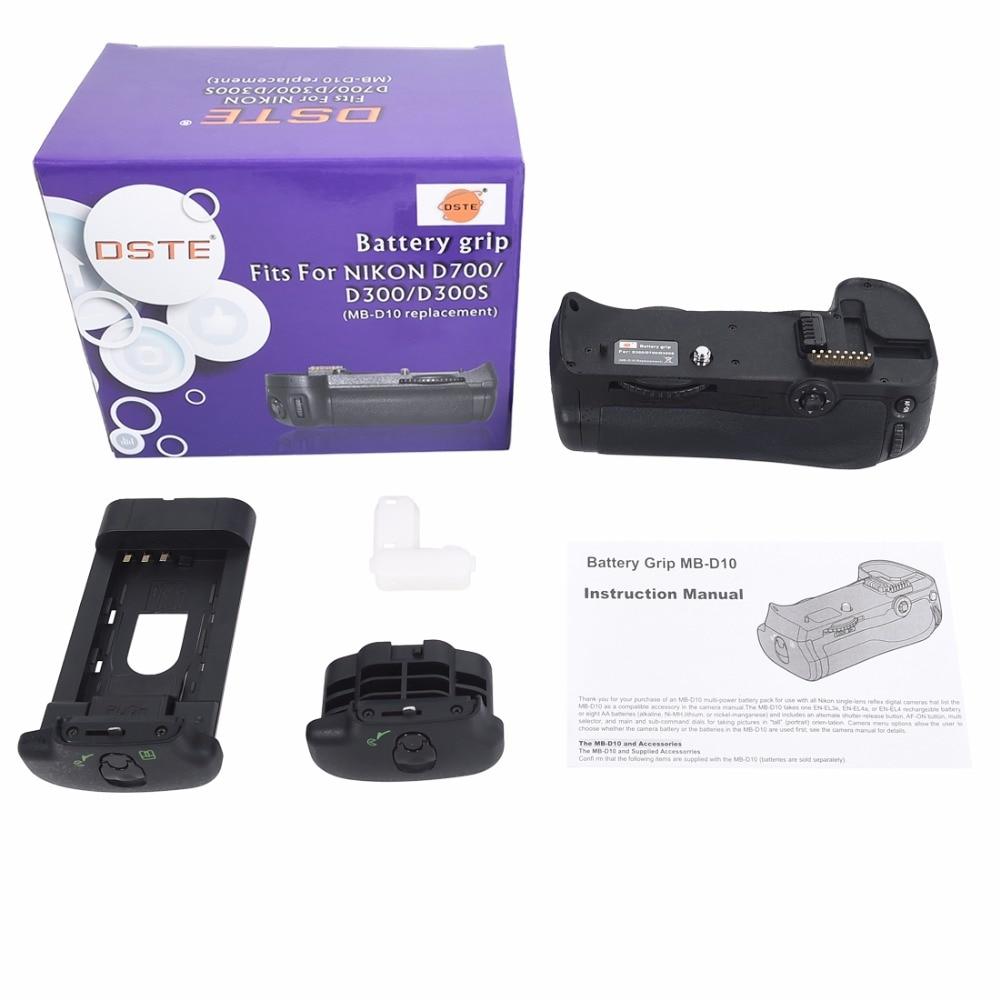 ФОТО DSTE MB-D10 Battery Grip For NIKON D300 D300S D700 D900 Digital SLR Camera