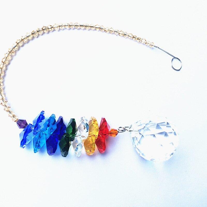 Vidro de Cristal Facetado beads Para DIY Jardim Suncatchers