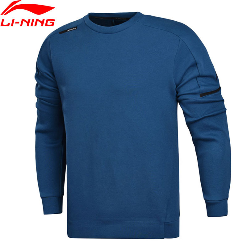 Li-Ning Men Training Sweater WARM AT Regular Fit 69% Cotton 26% Polyester 5% Spandex LiNing Sport Sweaters AWDM641 MWW1351