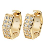 QIAMNI Girls Earrings Wholesale Jewelry Charms Geometric Jewelry Womens Hoop Earrings For Women CZ Stone