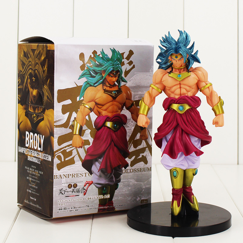 Hot selling 20cm Super Saiyan Broly Dragon Ball Z Broli PVC Figure font b Toy b