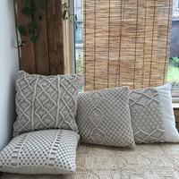Enipate Cotton Linen Thread Hand woven Cushion Cover Bohemian Car Throw Pillow Home Decoration Sofa Bed Decor Decorative Pillows