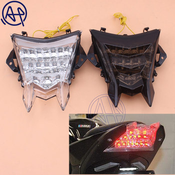 1pcs Motor Bike LED Tail Light Smoke/Clear LENS Tailamp Rear Lights With Turn Signal Light For BMW S1000R S1000RR S1000 2010-15