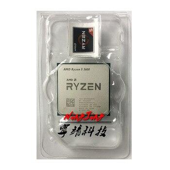 Amd ryzen 5 3600 r5 3600 3.6 ghz seis-núcleo processador cpu de doze linhas 7nm 65 w l3 = 32 m 100-000000031 soquete am4 novo mas nenhum ventilador