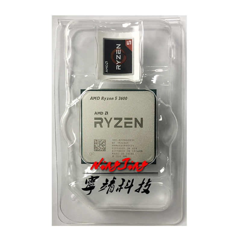 AMD Ryzen 5 3600 R5 3600 3.6 GHz a Sei Core Dodici-Thread di CPU Processore 7NM 65W L3 = 32M 100-000000031 Presa AM4 nuovo, ma senza ventola