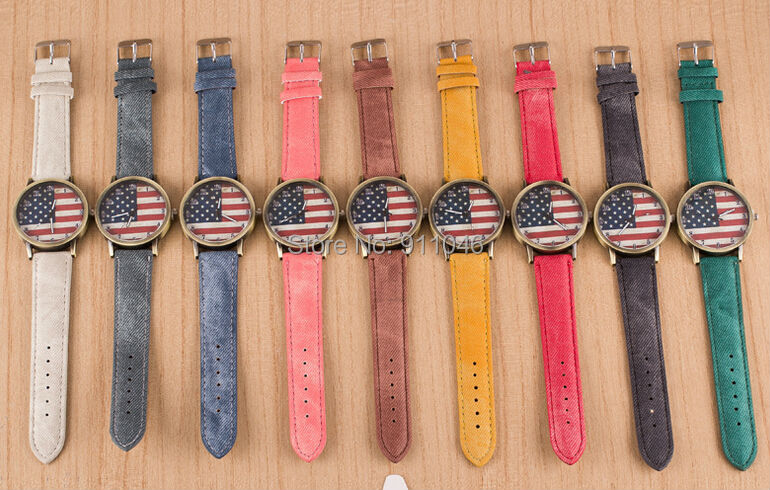 watches men usa promotion shop for promotional watches men usa on hot new arrival fashion fabric band watch men women casual quartz watch popular usa flag dial factory whole price