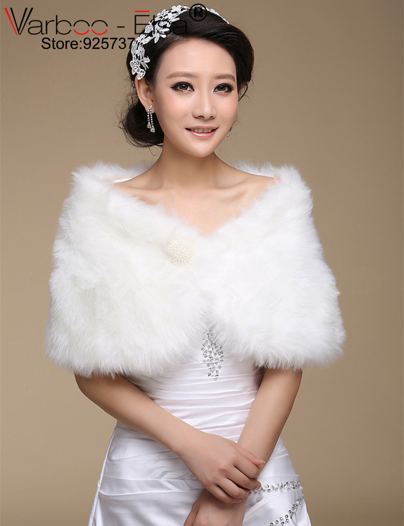 Online get cheap wedding dress shrugs aliexpress alibaba group cheap red and white wedding dresses shrugs jacket bridal bolero ivory wedding faux fur coat wedding ombrellifo Choice Image