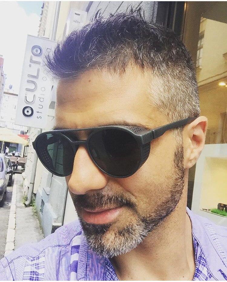 e268921c173c8 SOZO TU Moda Retro Rodada Steampunk óculos de sol óculos Estilo Estrela  Óculos de Sol Da Marca Designer Mulheres Homens Bonito Elegante Óculos  Óculos de Sol