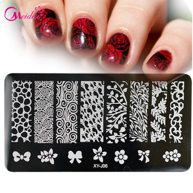1pcs Hot Fashion Nail Stamping Printing Plates Manicure Nail Art