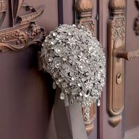 Yanstar Bridal Bouquet Luxury Crystal Wedding Bouquet Handmade Rhinestones Bouquets For Wedding Decoration 35WB501