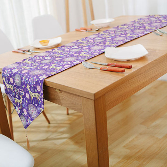 Korean Pastoral Table Runner Deer Small Fresh Table Cloth Runner Tea  Several Runners Bed Runner Fashion