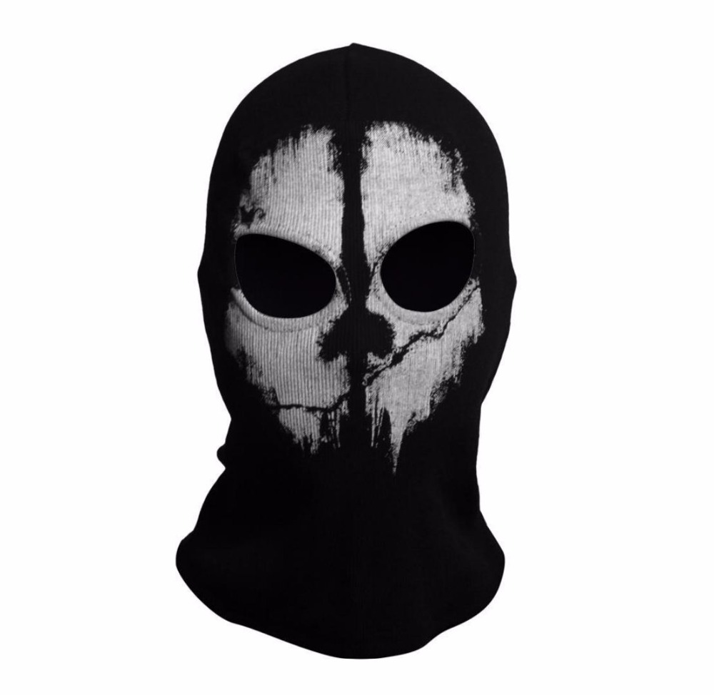 SzBlaZe Brand Call Duty Ghosts Cotton Balaclava Mask Halloween Full Face Game Cosplay Stocking mask CS player Skullies Beanies 3