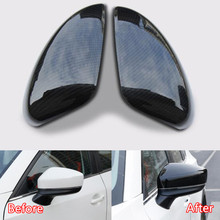 YAQUICKA Car font b Exterior b font Side Rearview Mirror Cover Trim Styling Fit For Mazda
