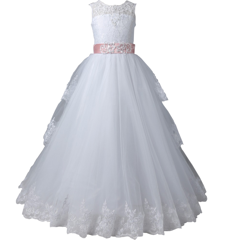 Lace Mother Daughter Dresses For Girls A-Line Flower Girl Dresses With Bow Tulle Flower Girls Dresses for Party and Wedding цена
