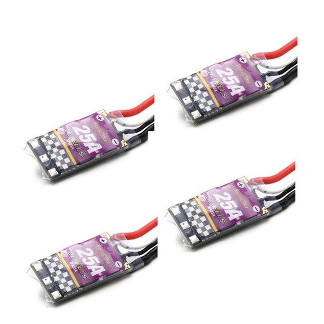 Высокое Качество 4 ШТ. Racerstar MS Серии 25A ESC BLHeLi_S OPTO 2-4 S Поддерживает Oneshot125 Oneshot42 Multishot Для RC Multicopter