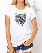 GEOMETRIC OWL SWAG HIPSTER DTG PRINT LADIES WOMEN TEE T-SHIRT WHITE TOP W6 T Shirt Cotton Men Short Sleeve Tee Shirts цена