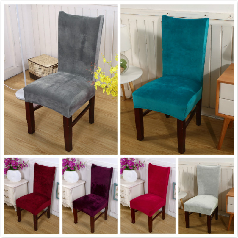Fine Us 5 21 1Pc Removable Stretch Solid Color Chair Covers Soft Fox Pile Fabric Dining Room Seat Arm Chair Covers 11 Colors In Chair Cover From Home Unemploymentrelief Wooden Chair Designs For Living Room Unemploymentrelieforg
