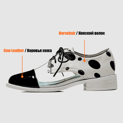 DoraTasia 2019 New 33-42 Fashion Girl Polka Dot Spring Pumps Women Genuine Leather Transparant Casual Women Heels Shoes Woman 5