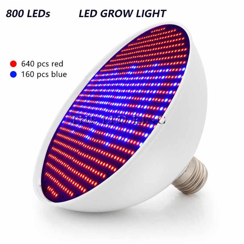 200W LED Lampada CFL Tumbuh Cahaya E27 110V 220V Spektrum Penuh Indoor Lampu dengan Klip untuk tanaman Vegs Sistem Hidroponik Tanaman