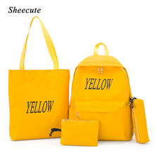 Canvas Backpack Children School Bags for Girls Princess School Backpacks Kids Printing Backpacks 4pcs set School Bag Handbag cheap Letter zipper unisex N25528 0 65 sheecute
