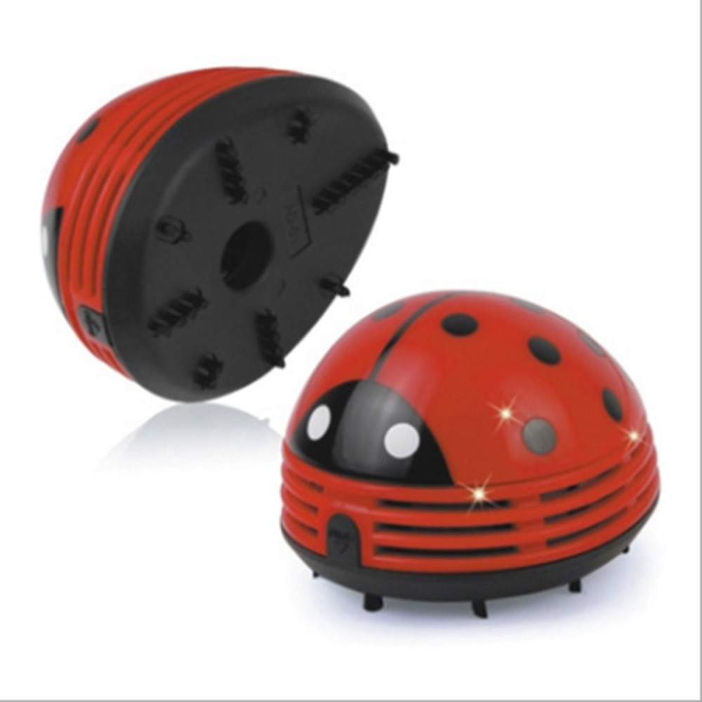 Battery Powered Cartoon Ladybug Vacuum Cleaner Desktop Keyboard Vacuum Cleaning Mini Dust Collector Crumb Sweeper Home Office